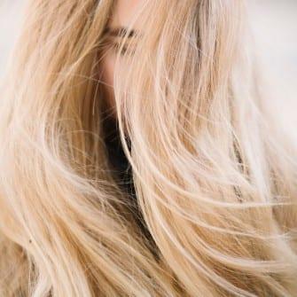 wild  free blond woman